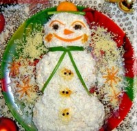 "picture - Christmas salad ""Snegovik"""