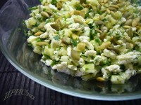 Cucumber and egg salad