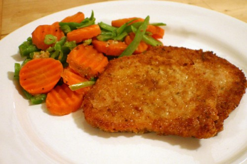Chops pork in batter in multivarka