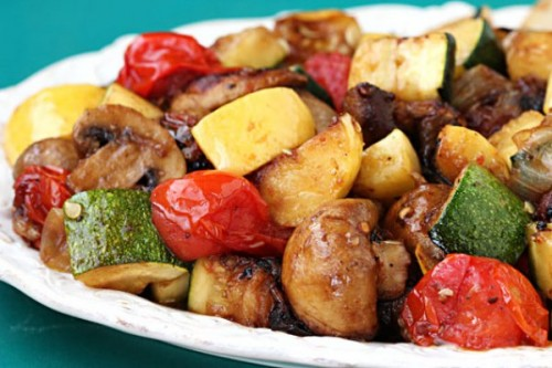 picture - Vegetables on the grill