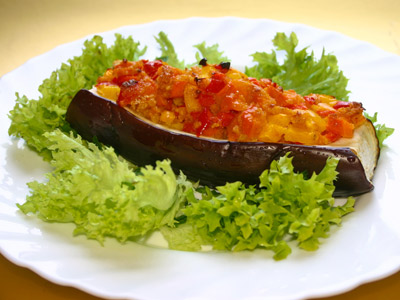 Vegetables, baked aubergine