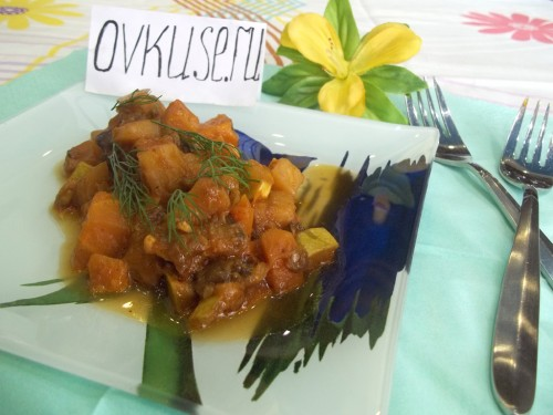 Vegetable stew with eggplant and zucchini