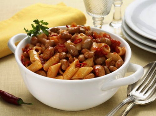 picture - Pasta with beans