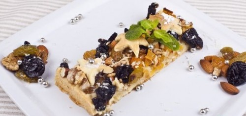 Pie with nuts and dried fruits
