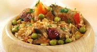 Pilaf with chicken and pork