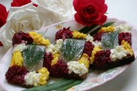 picture - Festive sandwiches with herring