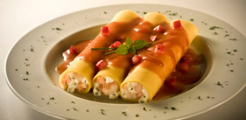 Holiday cannelloni stuffed with meat
