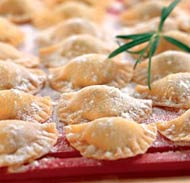 Ravioli with cheese filling