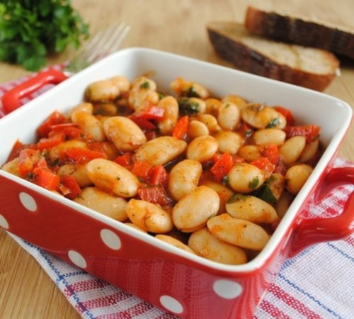 Recipes for beans with vegetables in the summer