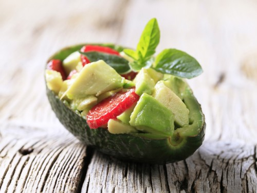 The recipe is simple salad with avocado