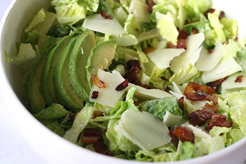 picture - The recipe is simple salad with avocado