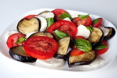 Summer salad recipes with eggplant