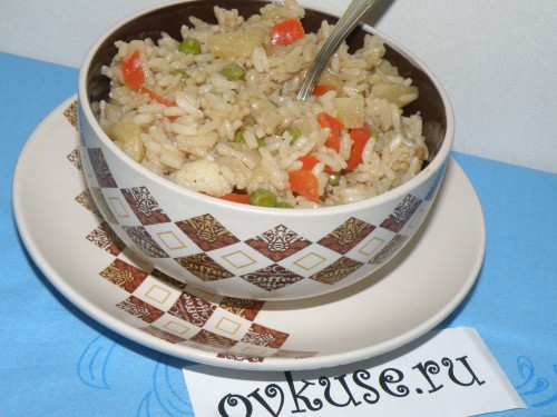 Rice with pineapple and vegetables in the Eastern