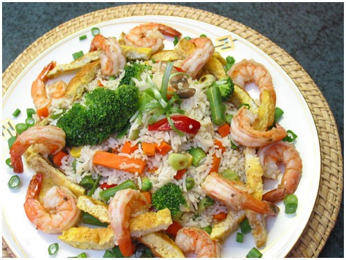 picture - Rice with shrimp: 6 recipes