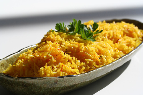 picture - Rice with saffron