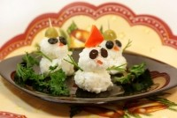 picture - Rice snowmen