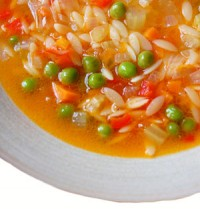 Rice soup with turkey