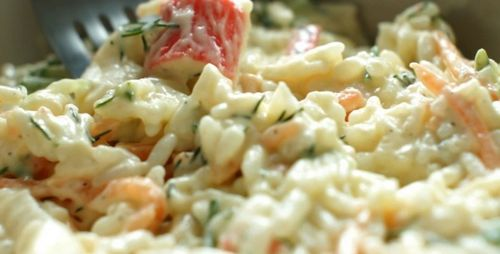 Salad with crab sticks - video recipe