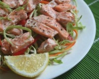 Diet salad with salmon