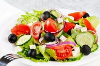 Greek salad in country style