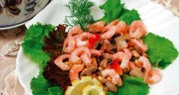 picture - Mushroom salad with shrimp