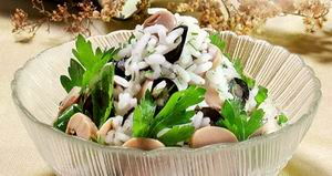 picture - Mushroom salad with rice