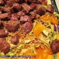 Beef salad with eggs