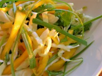 Turkey salad and mango