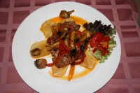 Turkey salad on Mexican