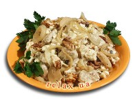 Chicken salad with nuts