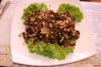 Salad of roasted mushrooms with herbs
