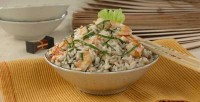 Rice salad with shrimp and anchovies