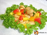 picture - Salad with mushrooms and eggs (II)