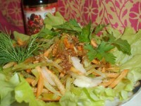 Salad of beets and radishes