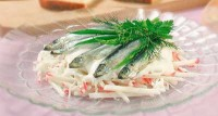 Crab salad with mayonnaise