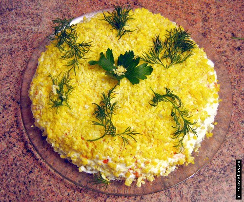 "picture - Salad ""Mimosa"""