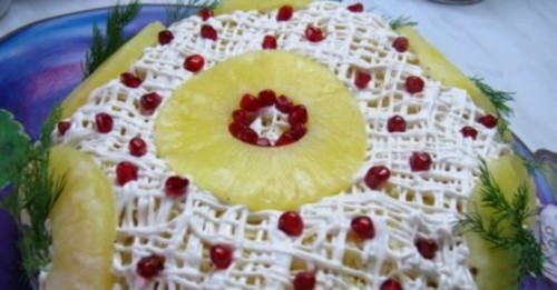 "picture - Salad Christmas ""Pineapple cap of Monomakh"""