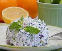 Salad in Egyptian with dill, feta cheese and mint picnic