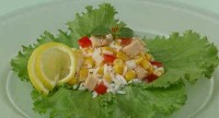Rice salad with fish