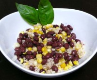 Salad with beans, rice, corn