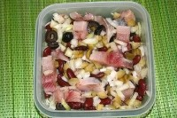 Salad with eggs in Mexican