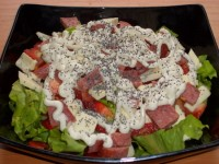 Salad with sausage