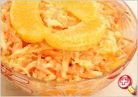 Salad with carrots and oranges