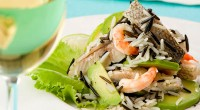 Salad with fish and rice