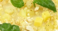 Salad with celery, pineapple and cheese