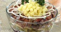 Salad with herring
