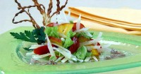 Salad with parmesan cheese and mango