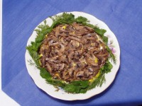 Salad with mushroom and potato