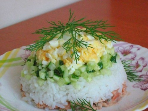 picture - Salads with canned salmon