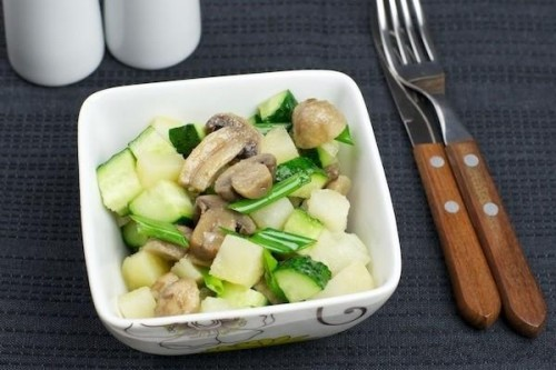 picture - Salad with marinated mushrooms: 5 recipes